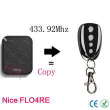 copy Nice FLO4RE 433.92mhz Rolling code remote control with battery