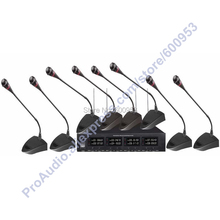 Professional 8 Goose neck Table Wireless Conference Microphones System for Meeting Room VHF(China)
