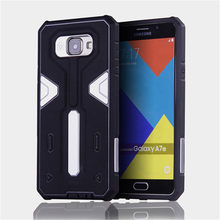 For Samsung Galaxy A710 [Cool Robot] PC + TPU Hybrid Cell Phone Back Case Armor Cover Dust Plug Drop Protection Fashion