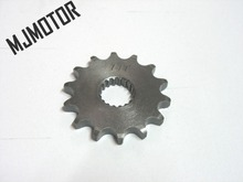14T Drive chain gear for motorcycle GS GN125 Suzuki Kawasaki QJ150 Keeway Honda Yamaha Chinese Motorcycle Scooter Spare parts