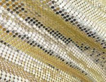 45x120cm/roll 3mm gold Aluminum Mesh Metal rhinestone Trim sewing strass crystal bridal applique for clothes mealmat accessories