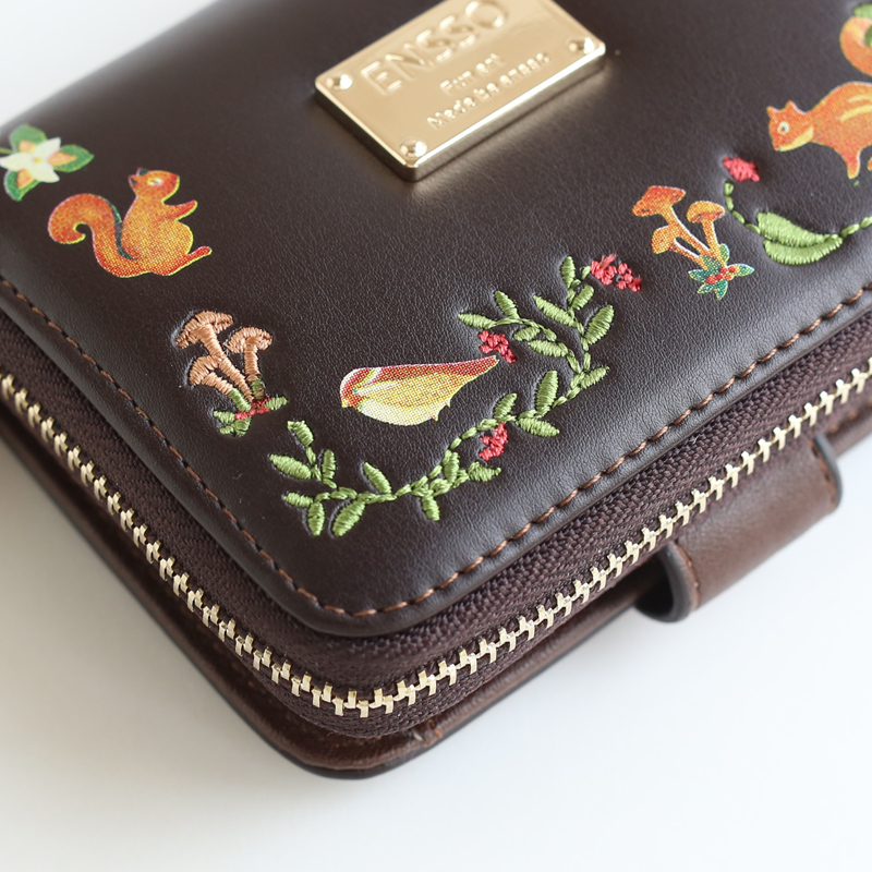 Autumn and winter new female wallet, Department of retro lovely, zero wallet embroidered eighty percent off Short Student Wallet<br>