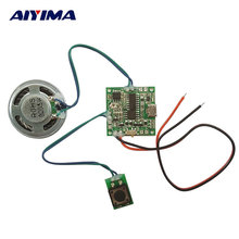 AIYIMA Audio Speaker Replaceable Sound Music Module With Volume Adjustment Lithium Battery Charging Circuit Voice Playback