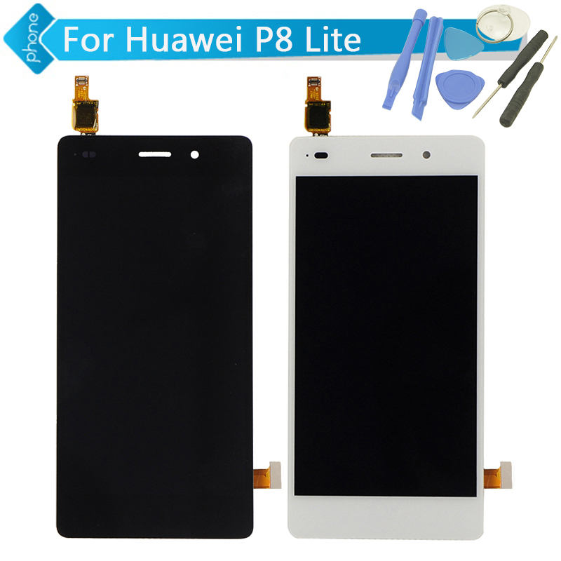 5 inch For Huawei P8 Lite LCD Display Touch Screen Digitizer Assembly;  Black / White Color +Tools<br><br>Aliexpress