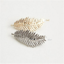 Newest 2016 Retro Leaf Feather Hair Clips Barrettes Trendy Alloy Hairpin Fashion Hair Jewelry Accessories For Women Lady