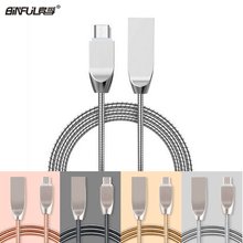 BINFUL Metal Alloy 1M 2.4A Fast Charger Micro USB Cable For Samsung Xiaomi Meizu Android For MP3 MP4 Mobile Storage Data Cable