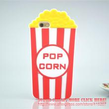 For iPhone 5/5s/5C/SE/6 6s/6Plus/6sPlus New Hot 3D Cute Popcorn POP CORN Silicon Case Case Cover Phone Case(China)