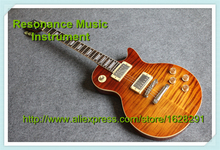One Piece Body & Neck Guitar LP Standard Highly Figured Flame Grains China Factory