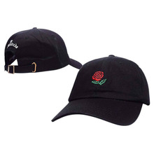 Spring Fashion Embroidery Rose Caps Adjustable Hip Hop Snapback Fashion Baseball Caps Men Women Fitted Trucker Hats