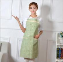 Hot Sale Cute Stripe and Dots Kitchen Bib Apron for Woman Chef Restaurant Cooking Tool Halter Bib Delantal Cocina For Man Woman