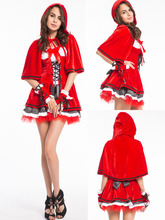 Adult Women Christmas Costume,Little Red Riding Hood Costume Sweetheart Miss Santa Dress Plus Size Cosplay Costumes For Women