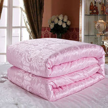 spring/Autumn silk comforter,twin queen king size soft natural silk blankets,pink white yellow jade color bedding Duvet Filler(China)