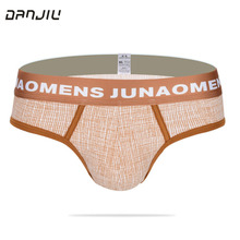 Buy DANJIU Cotton Lattice Male Underwear Soft Breathable Mens Briefs Sexy Fashion Man Underpants U Convex Panties Calzoncillos