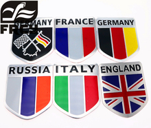3d Aluminum Car Flag Sticker Accessories For Vw/mazda/ /audi/hyundai /opel /skoda/ford Lada Renault Styling