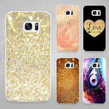 gold pink Hard White Coque Shell Case Cover Phone Cases for Samsung Galaxy S4 S5 S6 S7 Edge Plus