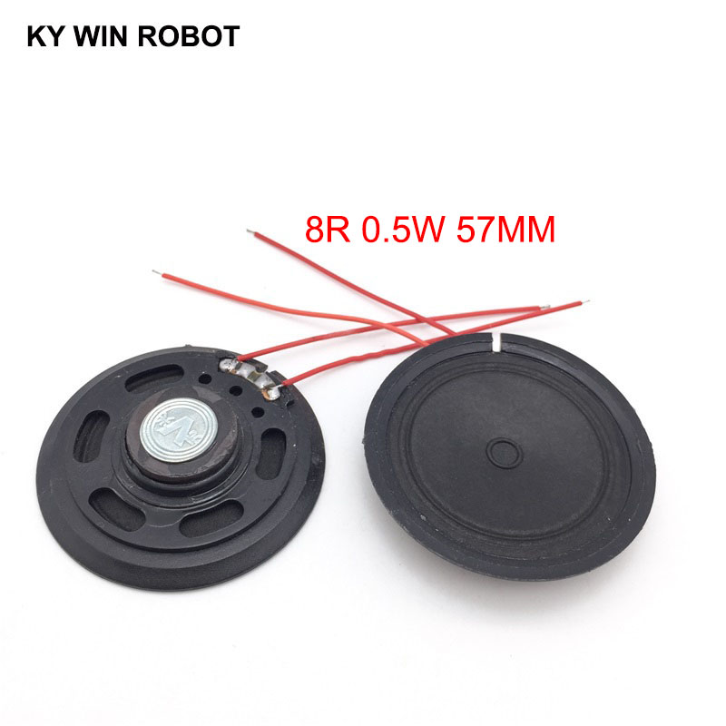 Electronic Components & Supplies 2pcs New Ultra-thin Speaker Doorbell Horn Toy-car Horn 16 Ohms 0.5 Watt 0.5w 16r Speaker Diameter 57mm 5.7cm Thickness 10mm Bright In Colour