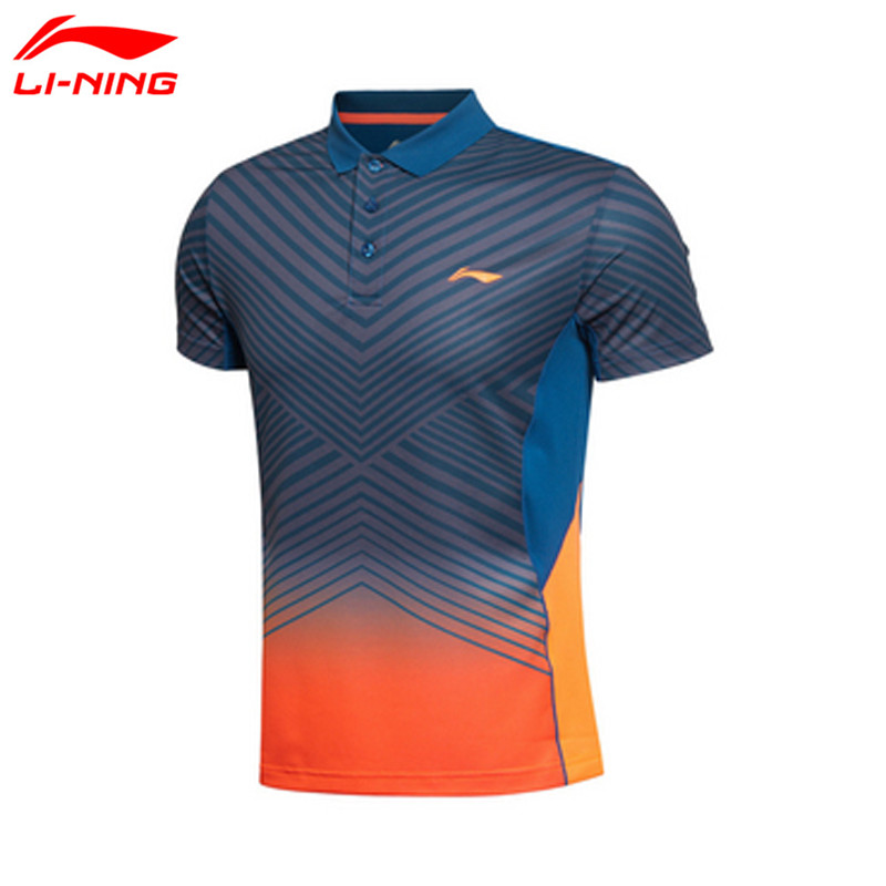 Li-Ning Mens Badminton T-Shirts Quick Dry Lining Breathable Jersey Sports Athletic Shirt Li Ning Table Tennis Clothing AAYK299<br>