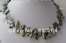 free shipping $wholesale_jewelry_wig$  Butterfly 15mm baroque Aerugo SOUTH Reborn keshi pearls necklace