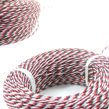 OliYin DIY FUTABA Color 22# 22AWG 60 Cores Servo Extension Cable/ Twisted Wire 20 Meters without Connector for RC Model(China)
