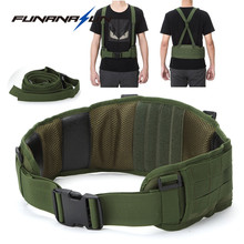Molle Tactical Waist Padded Belt with H-shaped Suspender Green Arisoft Padded 1000D Nylon Belt Combat Army Battle(China)