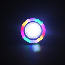 2pcs Colorful Angel Eyes Car Fog Lamps Car DRL COB Light Source Universal Car Accessories Daytime Running Lights Car-styling