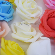 30Pcs 5 cm Head PE Foam Rose Flower Head Artificial Rosette Flower DIY Handmade Wreath Craft For Wedding Party Decoration 65Z(China)