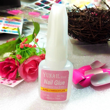 1 Pc 10g/2g BYB Nail Glue with Brush for Nail Art faux ongles avec coll for Tips Glitter Acrylic Decoration gel glue