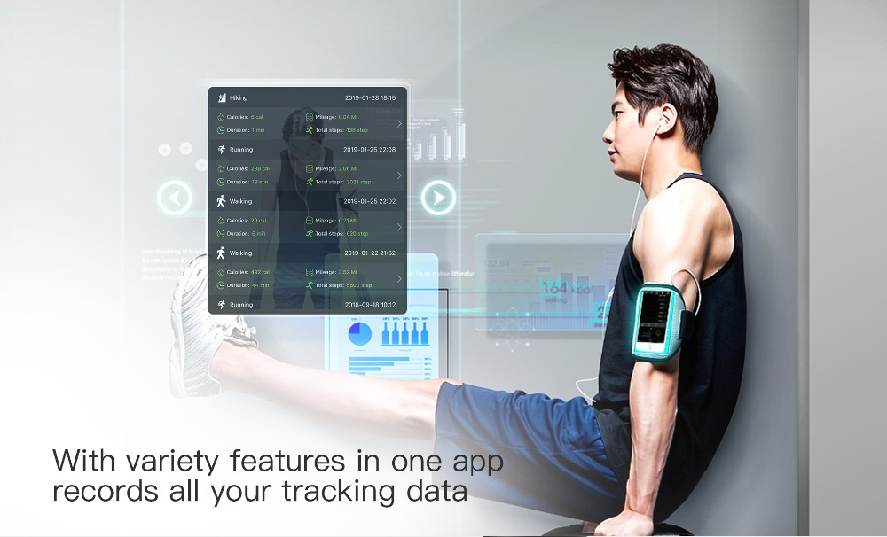 DT58 Smart Bracelet Big Screen Activity Fitness Tracker ECG Band Heart Rate Watch Sports Smart Wristband (10)