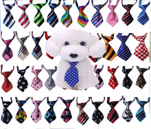 Wholease 200PC/Lot 40 colours Handmade Dog pet Ties Adjustable Dog Cat Neckties Pet Bow Ties Grooming Supplies