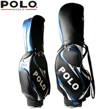 POLO Authentic New Standard Golf Bags Clubs Man Exalted Waterproof Leather PU Caddy Bag Men Professional Bag Equipment Package