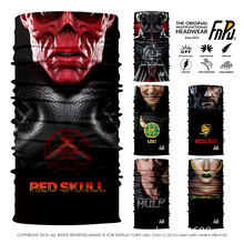 EXPRESS SHIPPING 3D Designs Cool Tubular Skull Ghost Mask Bandana Motor Sport Scarf Neck Warmer Summer Halloween Robot Bandana(China)