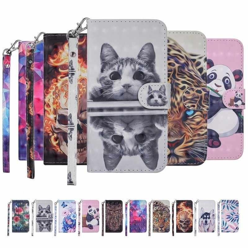 Fashion 3D Painted Wallet Leather Case For Xiaomi Mi 6 8 Redmi Note 4 4X 5A 6 6A Book Flip Style Dog Phone Cover Card Slot Case