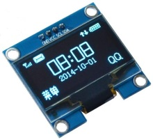 NoEnName_Null 1.3 inch Blue color OLED display screen Module 3.3-5.5V 12864 IIC I2C Interface 4pin SSH1106(China)