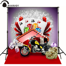 Allenjoy photographic background Locomotive dollar poker casino dice photo backdrops for sale professional fabric private party(China)