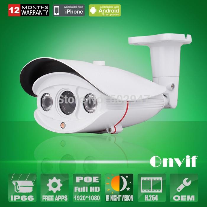 1080P 2.0 Megapixel HD Network Onvif H.264 Array IR Waterproof Sony CMOS Sensor Video POE IP Camera<br><br>Aliexpress