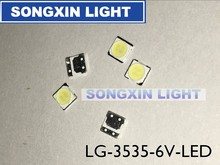 50pcs LG Innotek LED LED Backlight 2W 6V 3535 Cool white LCD Backlight for TV TV Application LATWT391RZLZK