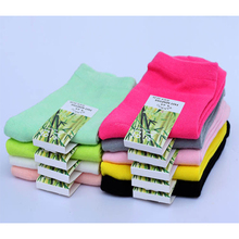 10pairs=1 lot High quality bamboo casual fashion women socks solid colors hot sale female socks Free Shipping MF5614546