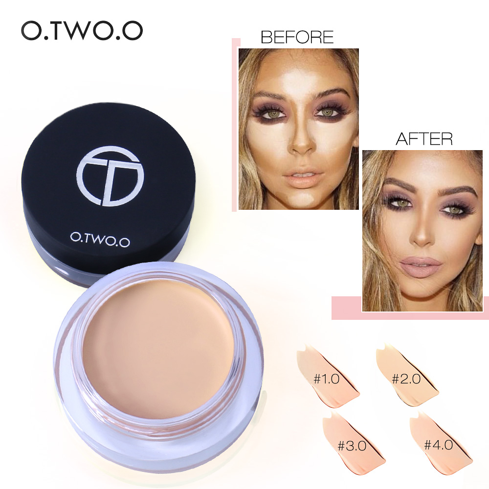 O.TWO.O 4colors Full Cover Concealer Cream Makeup Primer Cover Pore Wrinkle Foundation Base Lasting Oil-Control Concealer SUIT(China (Mainland))