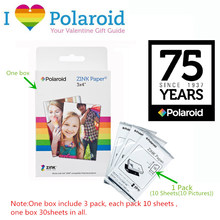 10 Packs/Lot Original Polaroid Photo Paper for GL10/Z340 ZINK 3X4 Inch Pocket Printer 100 Sheets(100 Pictures)