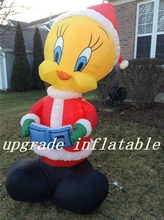 inflatable santa claus:With the music beating Christmas duck