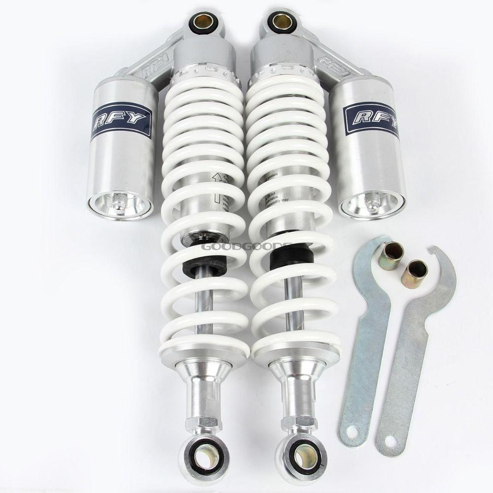 white  New 340mm Adjustable Motorcycle Motocross Rear Suspension Air Shock Absorber Spring Damper Fit for All Scooters ATVs Quad<br><br>Aliexpress