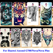 Hard PC Phone Cases For Huawei Nova CAN-L12 CAN-L11 Nova Plus G9 G9 Plus G8 Plus Ascend G700 Covers Cat Tiger Owl Housing Bags
