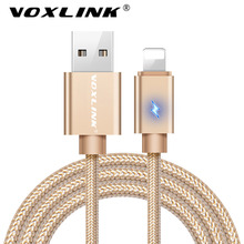 VOXLINK Lightning to USB Cable 2.4A Fast Charger USB Cable For iphone 7 6s plus iphone 5 5s ipad mini Mobile Phone Cables