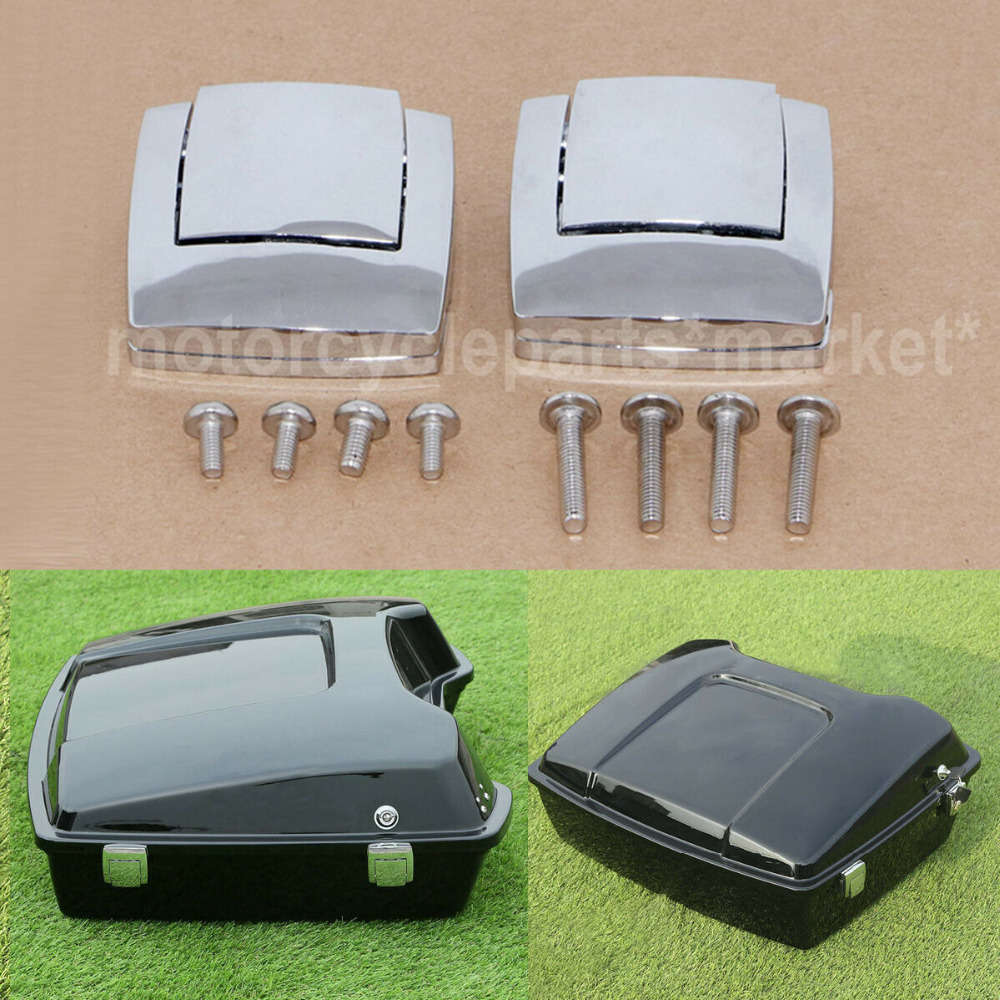 Home Motorcycle Razor Chopped King Tour Pack Pak Latch For Harley Davidson Touring Street Road Electra Glide 1980-2013 Discounts Price