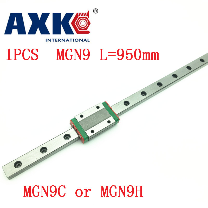 9mm Linear Guide MGN9 L=950mm linear rail way + MGN9C or MGN9H Long linear carriage for CNC X Y Z Axis<br>