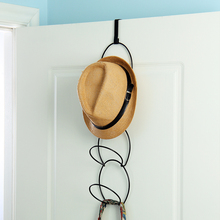 2016 New Design Storage Rack Multifunctional Metal Wire Stackable Wall Mounted Hat Clothes Hanger Over The Door Storage Holder