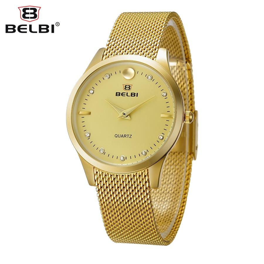 Belbi New Fashion Women Watch Top Brand Luxury Steel Mesh Quartz Dress Watch Ladies Rhinestone Wristwatch Relogio Feminino 2017<br><br>Aliexpress