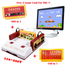 Hot Sale Classical Family TV Video Game Console 8Bit Games Player With PAL Format Free 500 in1+180 in1 Game Card Free Shippinng