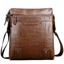 2017 Fashion PU Leather Men's Messenger Bags Man Portfolio Office Bag Quality Travel Shoulder Handbag for Man DS02