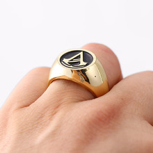 HSIC Gold Assassins Creed Size 8 Zinc Alloy Master Rings 4 Colors Assassin's Creed Ring for Party Evening Accessory HC11643(China)